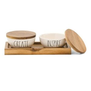 """🎄Rae Dunn """"Create & Inspire"""" Pinch Bowl Set"""